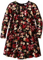 Dolce & Gabbana Back to School Floral Long Sleeve Dress (Toddler/Little Kids)