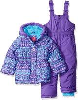 Pink Platinum Little Girls' Toddler Fair Isle Print Snowsuit