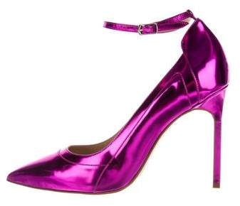 Manolo Blahnik Storm Metallic Pumps