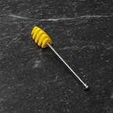 Crate & Barrel Yellow Silicone Honey Dipper