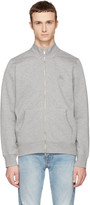 Burberry Grey Sheltone Zip-up Sweater