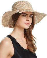 Aqua Two-Tone Patterned Straw Sun Hat - 100% Exclusive