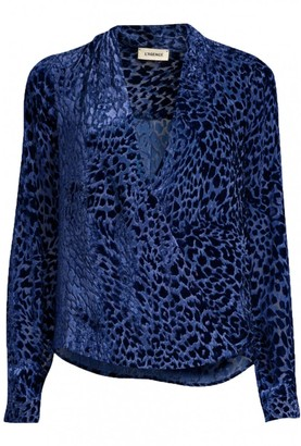 L'Agence Blue Velvet Top for Women