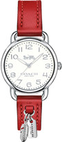 Coach 14502758 Delancey stainless steel and leather charm watch