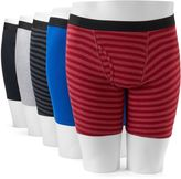 Fruit of the Loom Men's 5-Pack Striped Boxer Briefs