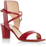 Paul Andrew Red Leather Lexington Sandals