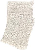 Pine Cone Hill Wruffle Crochet-Trimmed Matelass Throw