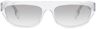 Burberry Monogram Motif Rectangular-Frame Sunglasses