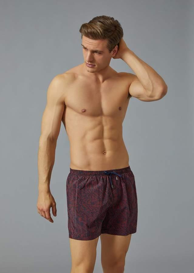 Giorgio Armani Patterned Swim Shorts