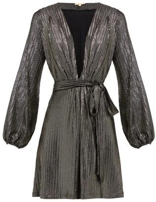 Melissa Odabash Banks Metallic-striped Mini Dress - Womens - Black