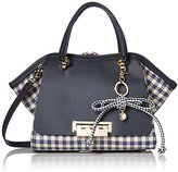 Zac Posen EARTHA ICONIC DOUBLE HANDLE NAVY