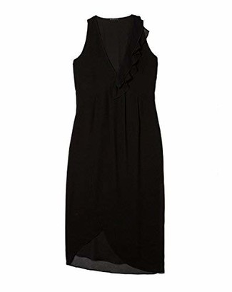 Sisley Women's Midi Asymmetric Hem Dress Party