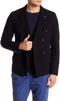 Gant Navy Double Breasted Notch Lapel Doubler Wool Blazer