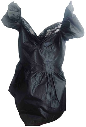 Au Jour Le Jour Black Silk Dress for Women