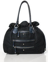 Tod's Tods Blue Silver Tone Detail Shoulder Handbag Size Medium