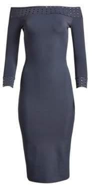 Chiara Boni Women's Guglielmina Studded Midi Dress - Fossil - Size 36 (0)