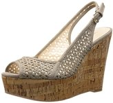 Nine West Women's Axey Suede Wedge Sandal