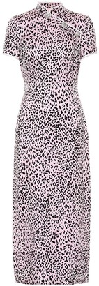 Alessandra Rich Leopard-printed silk dress