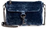 Rebecca Minkoff Mini MAC Velvet Convertible Crossbody Bag - Blue