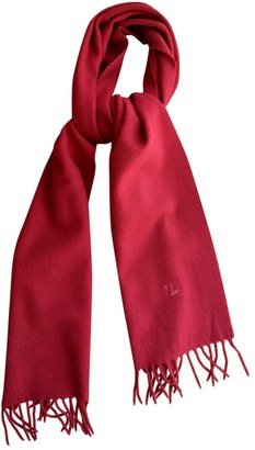 Burberry Red Wool Scarves & pocket squares