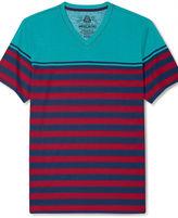 American Rag T-Shirt, Lounge Stripe Short Sleeve T-Shirt