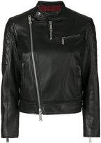 DSQUARED2 collarless biker jacket