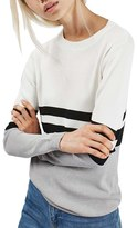 Topshop Sporty Stripe Sweater