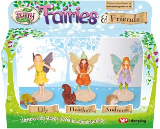 My Fairy Garden Fairies & Friends Figurine Pack, Pack of 3