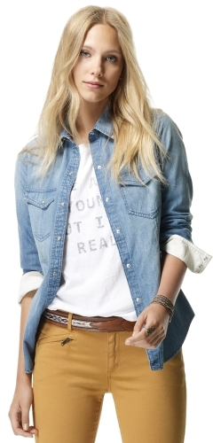 Club Monaco Celeste Denim Shirt