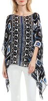 Vince Camuto Women's Graphic Poncho Top