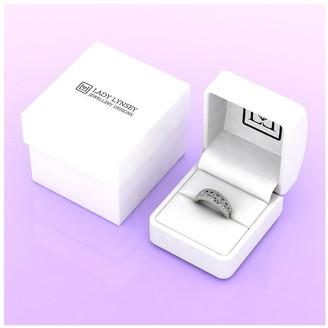 Moissanite 9ct White Gold Band Ring