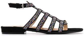 Sergio Rossi crystal embellished sandals