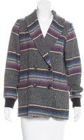 Steven Alan Wool Striped Coat