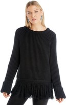 Sole Society Fringe Long Sleeve Knit