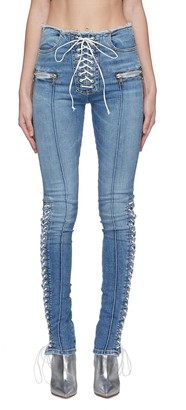 Ben Taverniti Unravel Project Lace-up skinny jeans