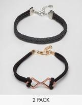 Asos Bracelet Pack With Rose Gold Detail