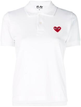 Comme des Garcons Logo Heart Polo Shirt