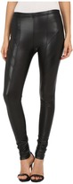 Plush Fleece-Lined Liquid Moto Leggings