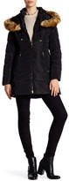 Laundry by Shelli Segal Hooded Faux Fur Trim Quilted Jacket
