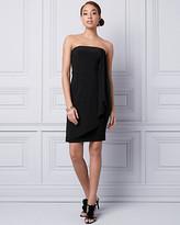 Le Château Knit Strapless Ruffle Dress