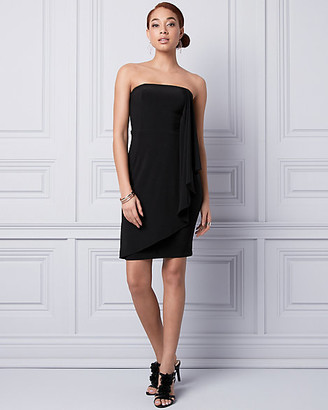 Le Château Knit Strapless Ruffle Dress