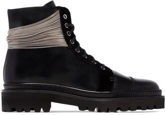 Balmain Ranger chain-trimmed boots