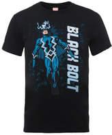 Marvel Comics Black Bolt Men's Black T-Shirt
