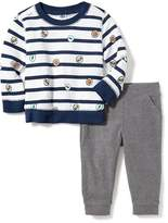 Old Navy Striped Sweatshirt & Jersey Pants Set for Baby