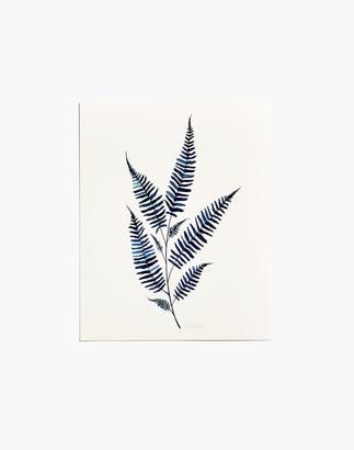 Madewell Fox Hollow Studios Blue Fern #2 Art Print