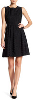 Anne Klein Novelty Jacquard Fit & Flare Dress