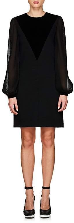 Givenchy Women's Velvet-Appliquéd Minidress