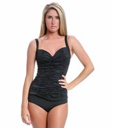 DKNY Brigitte Solid Shirred Tankini Top 8115485