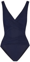 Karla Colletto Smart Ruched Swimsuit - Navy