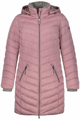 GINA LAURA Women's Steppjacke Kapuze M Micro Fake Fur Jacket
